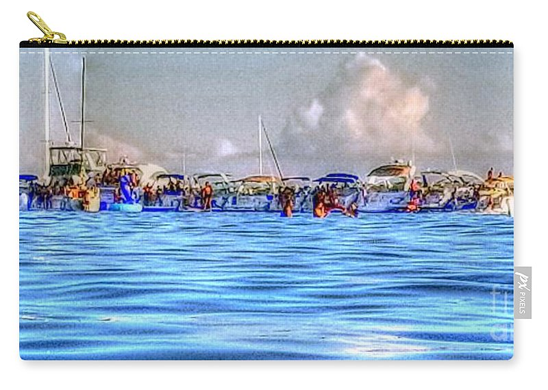 Toronto Carry-all Pouch featuring the photograph Boat Party Toronto by John Scatcherd