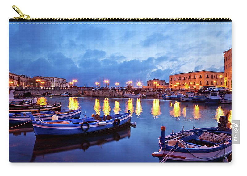 Sicily Carry-all Pouch featuring the photograph Boats In Sicily, Italy by Nikada