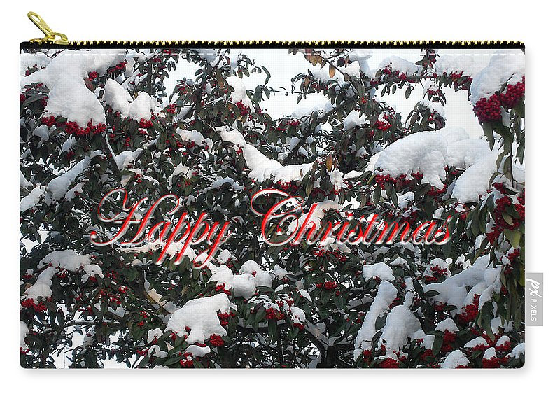 Christmas Carry-all Pouch featuring the photograph Happy Christmas 12 by Patrick J Murphy
