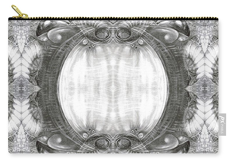 Fantasy; Surreal; Drawing; Otto Rapp; Art Of The Mystic; Michael Wolik; Photography; Bogomil Variations Carry-all Pouch featuring the digital art Bogomil Variation 3 by Otto Rapp