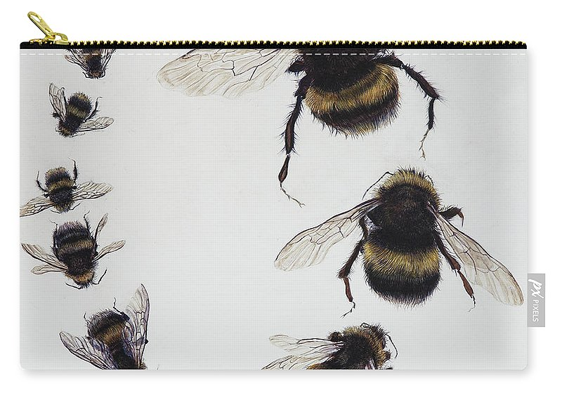 Nature Carry-all Pouch featuring the painting Bombus by Odile Kidd