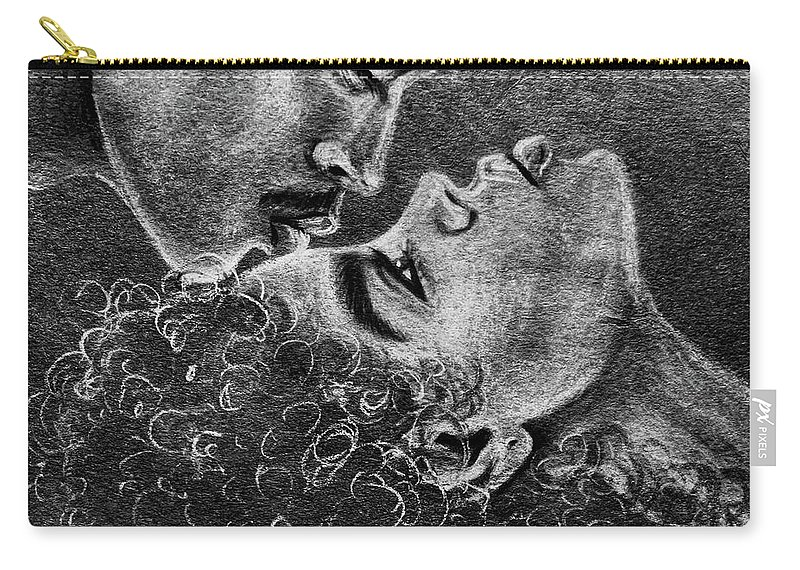 Marriage Carry-all Pouch featuring the drawing Bone of my Bone by Artist RiA