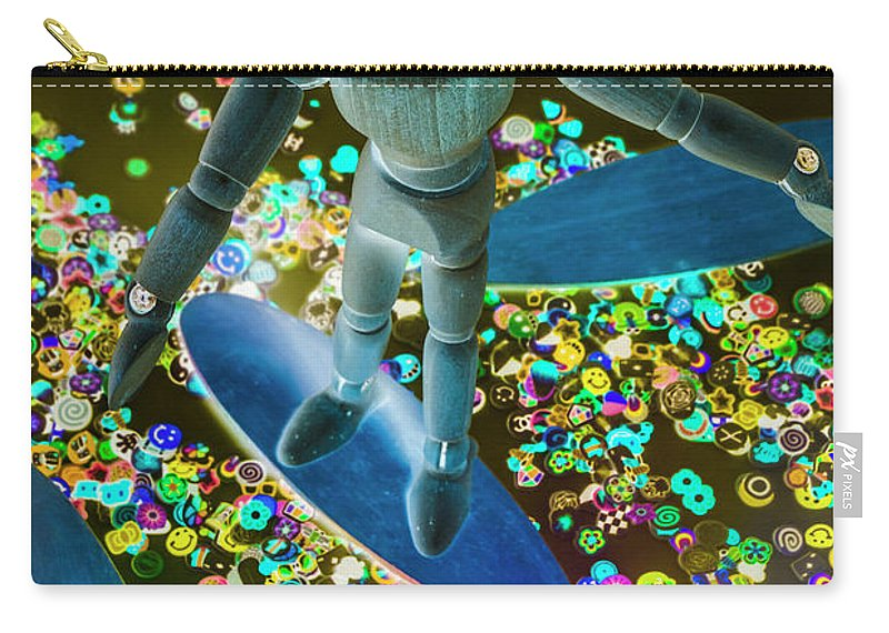 Boarder Carry-all Pouch featuring the photograph Bordering by Jorgo Photography - Wall Art Gallery