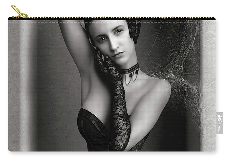 Woman Carry-all Pouch featuring the photograph Boundaries by Johan Swanepoel