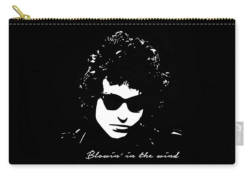 Bob Dylan Carry-all Pouch featuring the digital art Bowin' In The Wind by Filip Schpindel