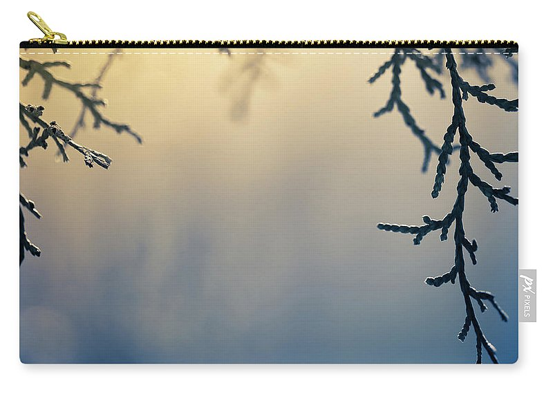 Saturated Color Carry-all Pouch featuring the photograph Branch Of Pine Tree by Jeja