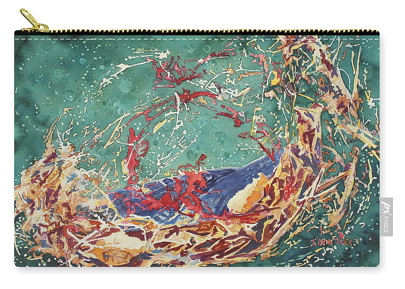 Empty Nest Carry-all Pouch featuring the painting Breaking Out Empty Nest Iv by Jenny Armitage