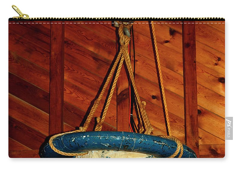 Breeches Buoy Carry-all Pouch featuring the photograph Breeches Buoy by Sally Weigand