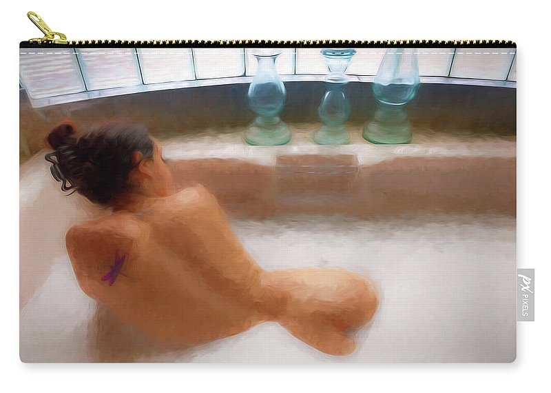 Nude Carry-all Pouch featuring the photograph Brennan Hill Tub 2 by Mike Penney