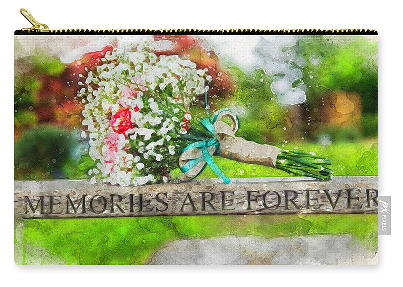 Bridal Carry-all Pouch featuring the photograph Bridal Bouquet by David Ridley