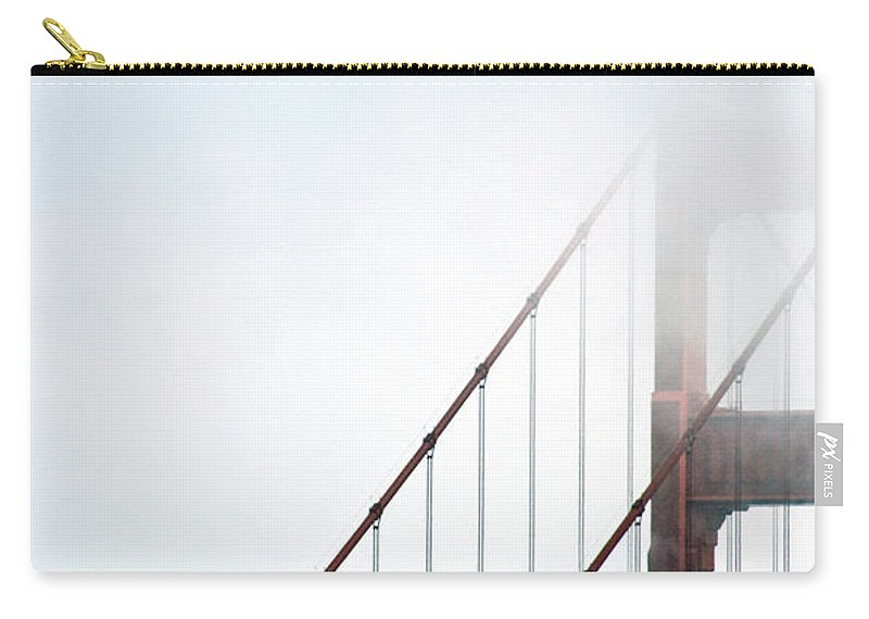 Scenics Carry-all Pouch featuring the photograph Bridge In Fog by By Ken Ilio