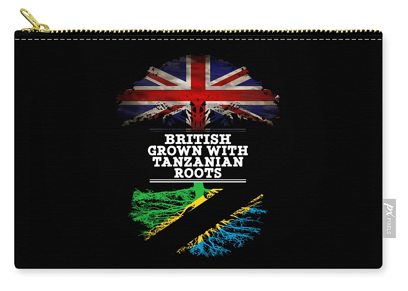 Christmas Carry-all Pouch featuring the digital art British Grown With Tanzanian Roots by Jose O