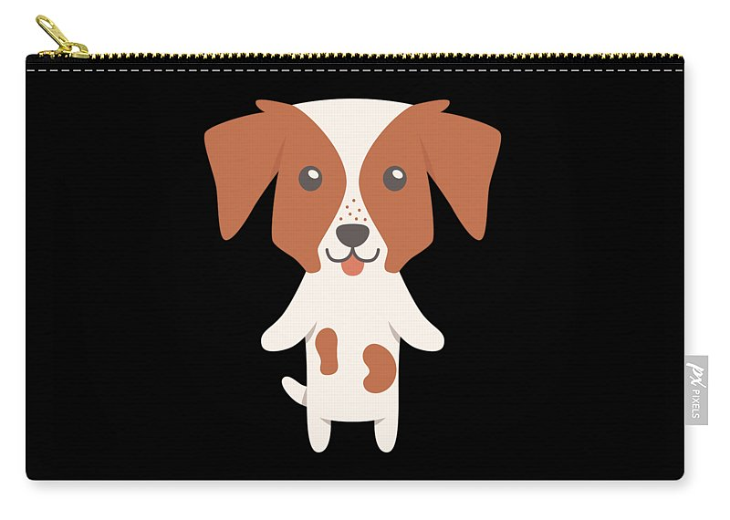 Best-dog-gift Carry-all Pouch featuring the digital art Brittany Gift Idea by DogBoo