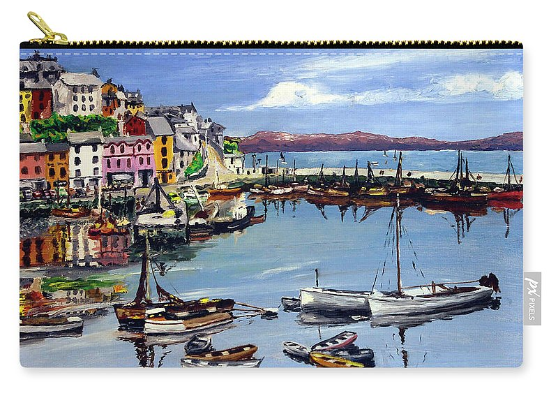 Seaside Town - Seascape Carry-all Pouch featuring the painting Brixham Harbour by Anthony Palmer