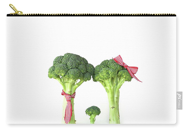 Broccoli Carry-all Pouch featuring the photograph Broccoli Dad, Mom And Baby by Stephanie Mull Photography