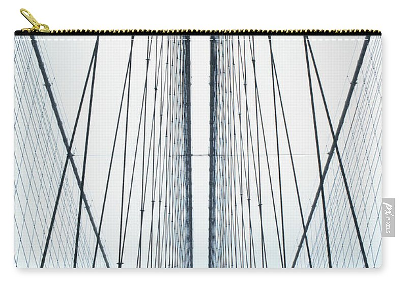 Suspension Bridge Carry-all Pouch featuring the photograph Brooklyn Bridge by Eric O'connell