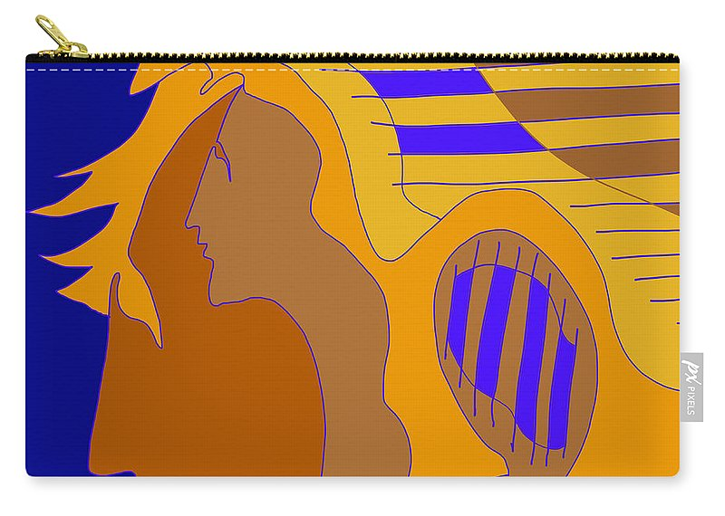 Quiros Carry-all Pouch featuring the digital art Brushed by Jeff Quiros