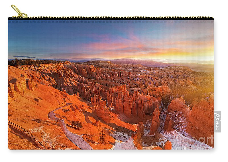 Scenics Carry-all Pouch featuring the photograph Bryce Canyon National Park At Sunset by Ankit Saxena