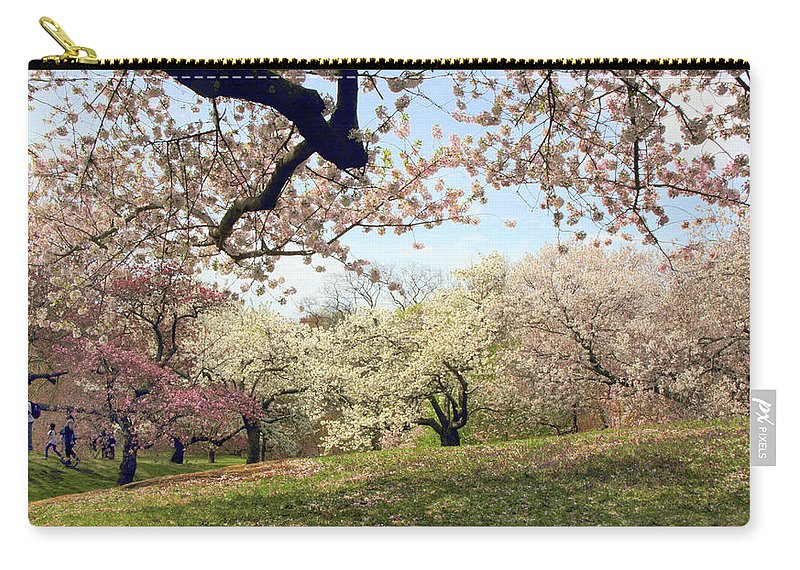 Cherry Trees Carry-all Pouch featuring the photograph Joy In The Cherry Grove by Jessica Jenney