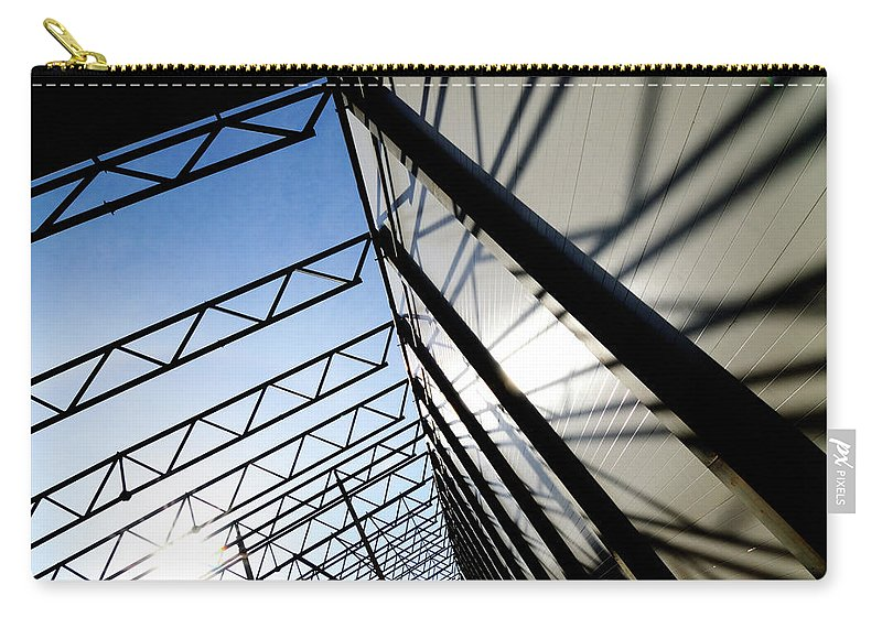 Shadow Carry-all Pouch featuring the photograph Building Abstract by Maximgostev