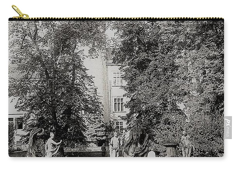 Garden Structure Creates A Place Carry-all Pouch featuring the photograph Building And Nature by Venancio Diaz