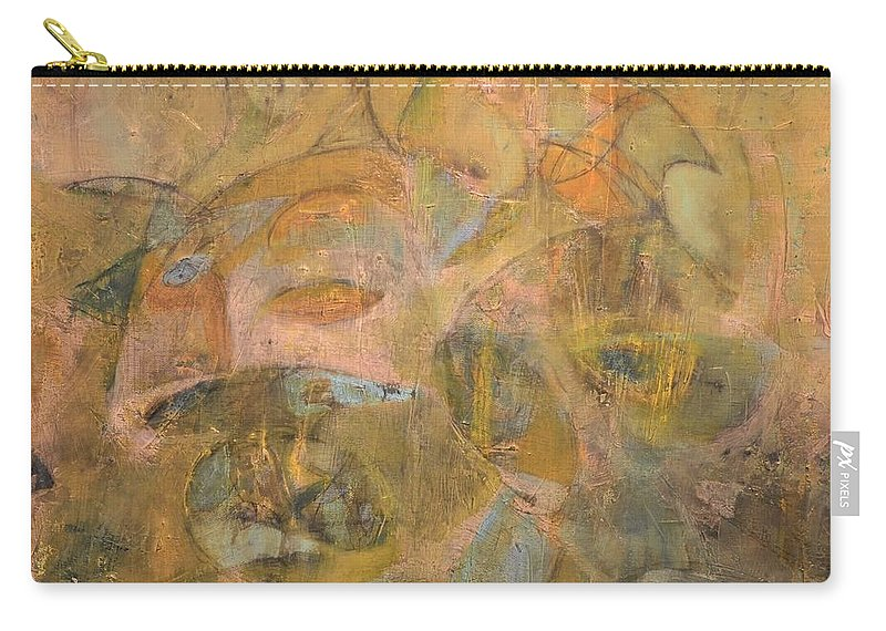 Abstract Painting. Yellows Carry-all Pouch featuring the painting Bull Fish by Patrick N Brown