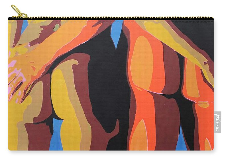 Original Carry-all Pouch featuring the painting Bundas 9 by Jorge Berlato