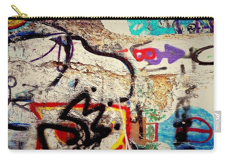 Graffiti Beast Arrow Balloon Carry-all Pouch featuring the digital art Bup Beast by Mykul Anjelo
