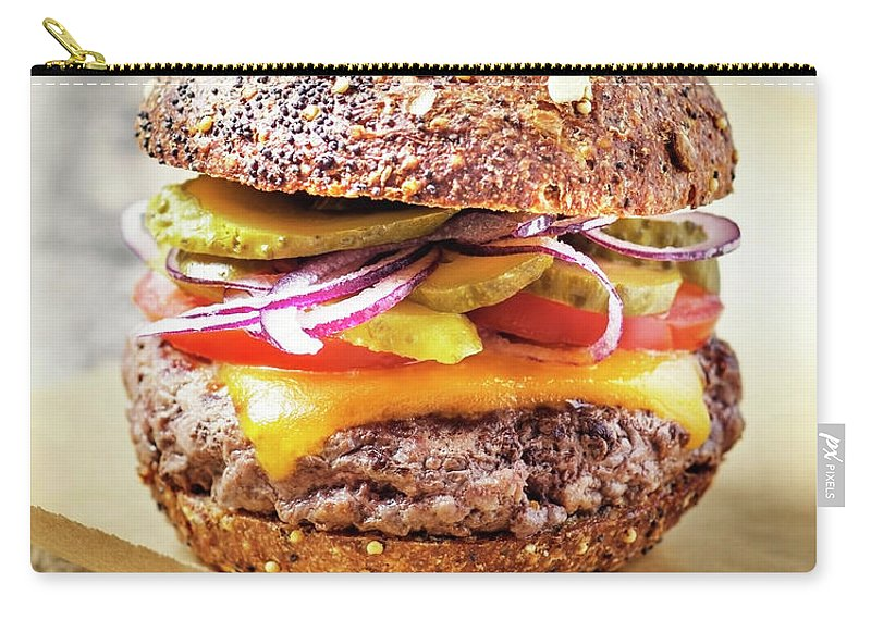 Bun Carry-all Pouch featuring the photograph Burger by Claudia Totir