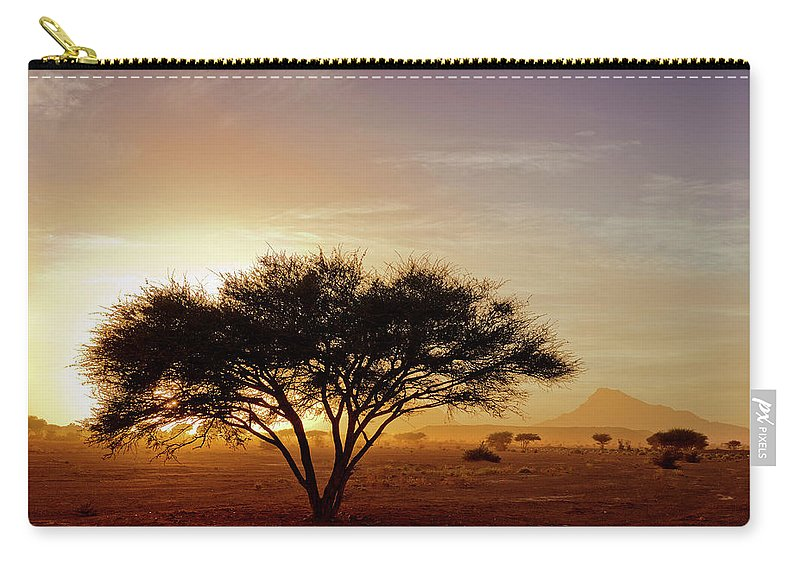 Tranquility Carry-all Pouch featuring the photograph Burning Desert by Bernd Schunack