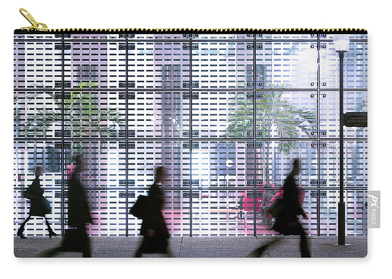 People Carry-all Pouch featuring the photograph Business People Passing Modern Office by Eschcollection