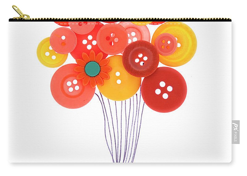 Brampton Carry-all Pouch featuring the photograph Buttons As Balloons by Lisa Stokes