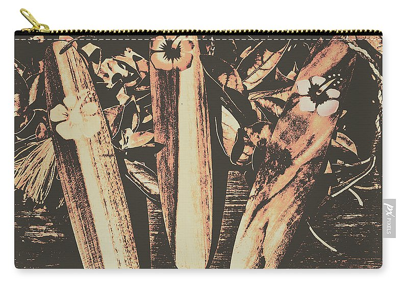 Surf Carry-all Pouch featuring the photograph Bygone Boarding by Jorgo Photography - Wall Art Gallery