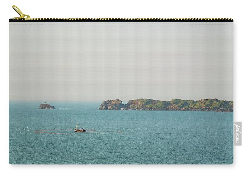 Scenics Carry-all Pouch featuring the photograph Cabo De Rama, Goa by Cranjam