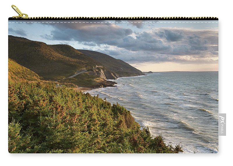 Scenics Carry-all Pouch featuring the photograph Cabot Trail Scenic by Shayes17