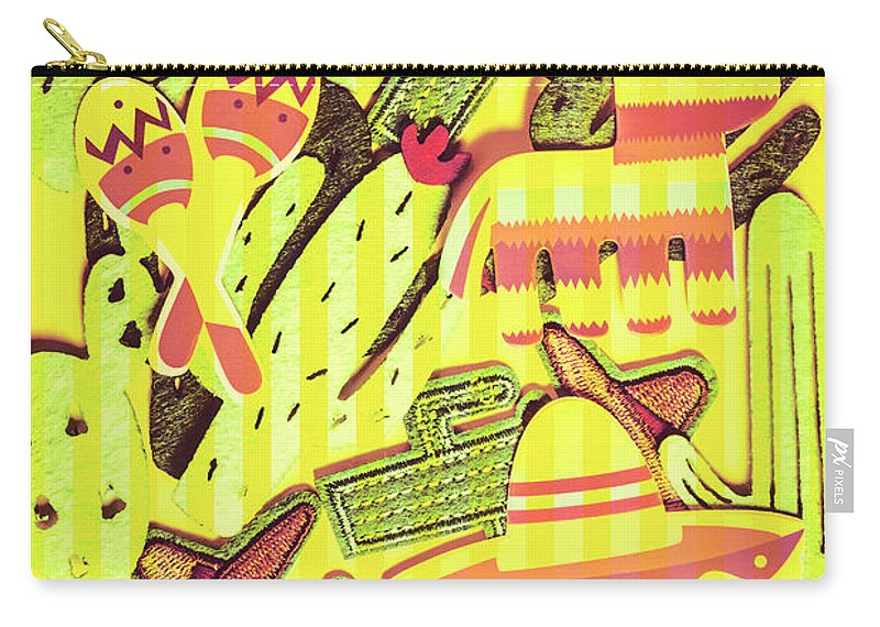 Mexican Carry-all Pouch featuring the photograph Cactus Carnival by Jorgo Photography - Wall Art Gallery
