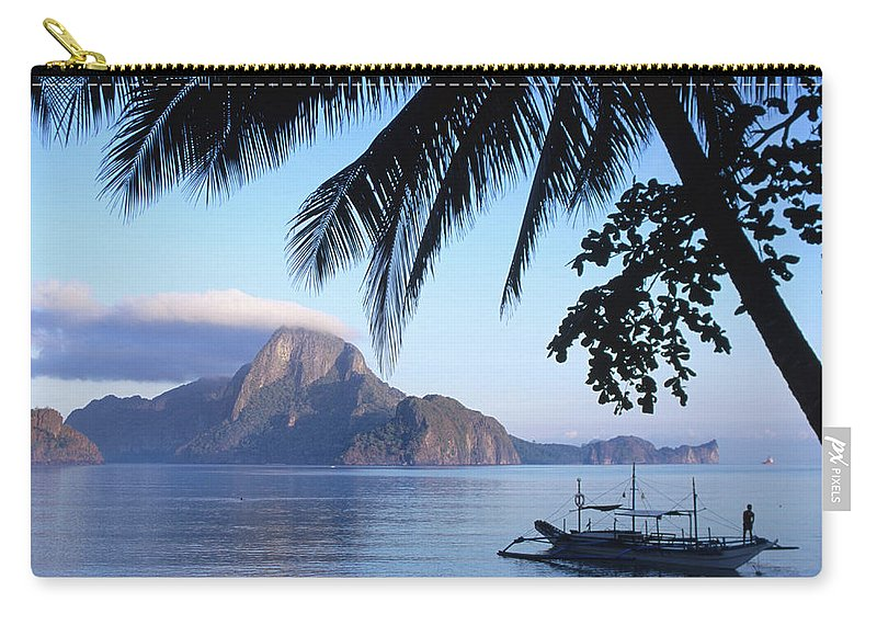 People Carry-all Pouch featuring the photograph Cadlao Island From El Nido, Sunrise by Dallas Stribley
