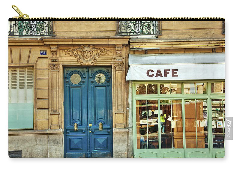 Diner Carry-all Pouch featuring the photograph Cafe In Paris by Nikada