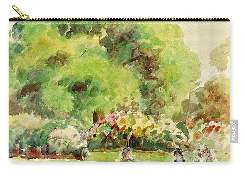 Camille Pissarro Carry-all Pouch featuring the painting Cagnes Landscape by Camille Pissarro