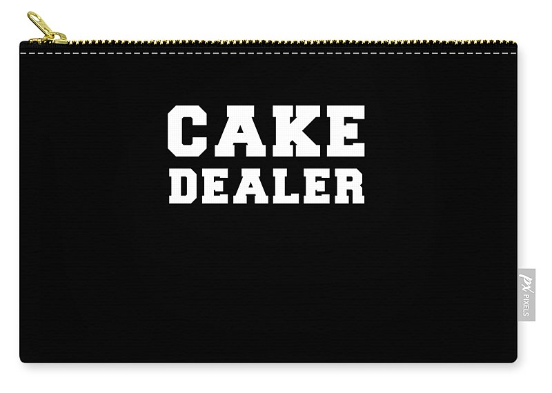 Funny Carry-all Pouch featuring the digital art Cake Dealer by Crypto Keeper