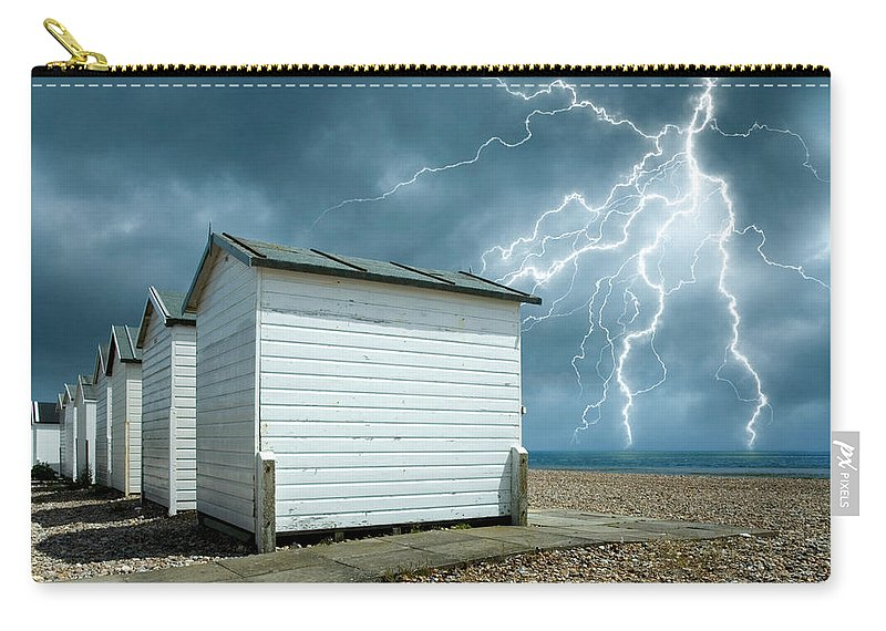 Water's Edge Carry-all Pouch featuring the photograph Calm Before The Storm by Blackbeck