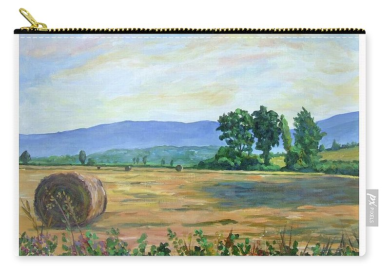 Scenery Carry-all Pouch featuring the painting Campagna Romana by Bruno Cioccia