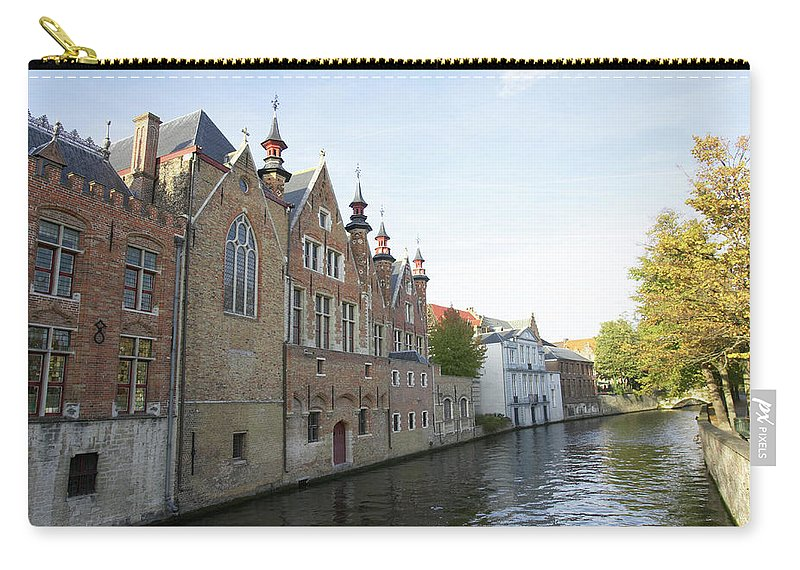 Old Town Carry-all Pouch featuring the photograph Canal In The Old Town Of Brugge by Christof Koepsel