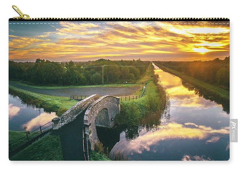 Grand Canal Carry-all Pouch featuring the photograph Canal Sunrise by Jeremy Simpson