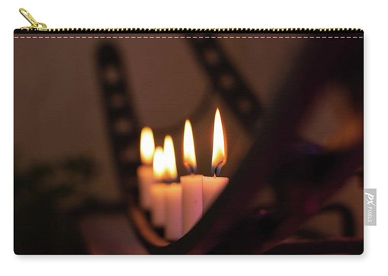Candle Carry-all Pouch featuring the photograph Candlestick by Roland Spilak