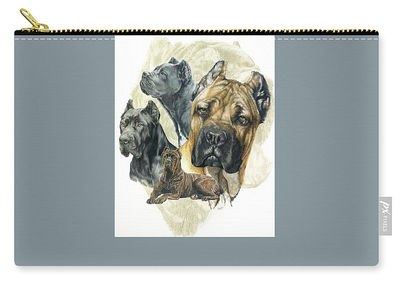 Working Group Carry-all Pouch featuring the mixed media Cane Corso by Barbara Keith