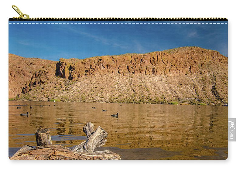 Canyon Carry-all Pouch featuring the photograph Canyon Lake by Janet Schill