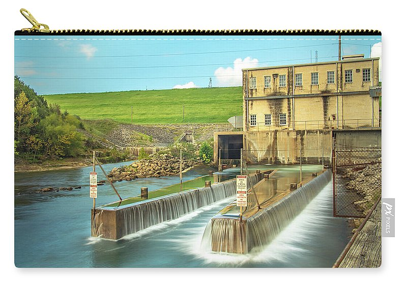 River Carry-all Pouch featuring the photograph Canyon Lake Spillway by Cecilio Martinez