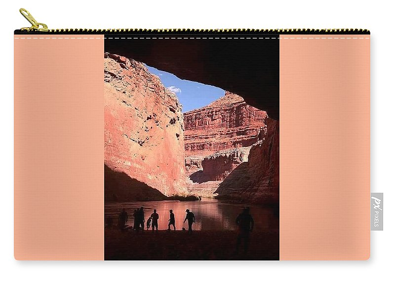 Carry-all Pouch featuring the digital art Canyon Silhouettes by Terri Souder