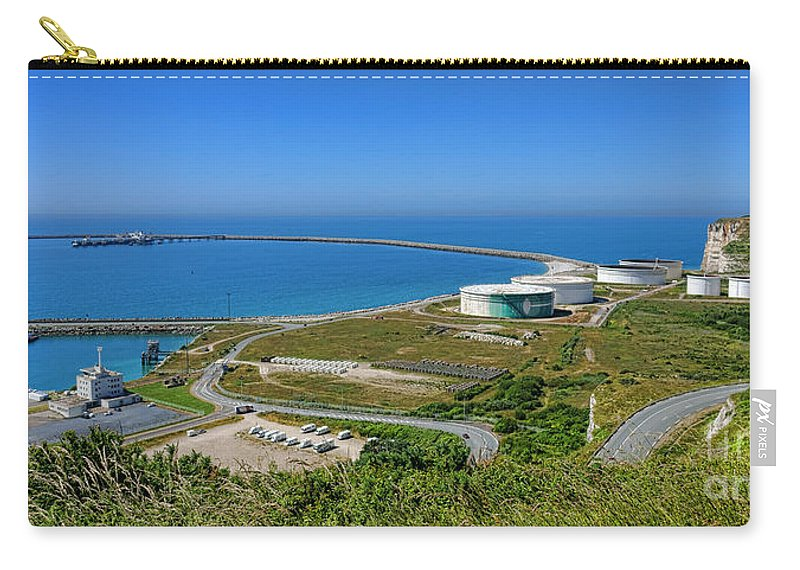 Antifer Carry-all Pouch featuring the photograph Cap Antifer Oil Terminal by Olivier Le Queinec